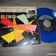 Discos de vinilo: LOS CINCO LATINOS - DÍMELO TU +3 (DISCO AZUL). Lote 134197842