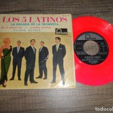 Discos de vinilo: LOS CINCO LATINOS - BALADA DE LA TROMPETA +3 (DISCO ROJO). Lote 134198662
