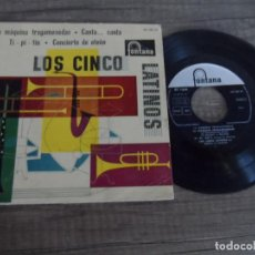 Discos de vinilo: LOS CINCO LATINOS - LA MAQUINA TRAGAMONEDAS +3. Lote 134198810