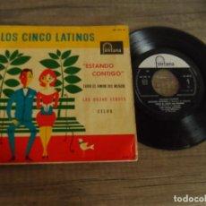 Discos de vinilo: LOS CINCO LATINOS - ESTANDO CONTIGO +3. Lote 134199330