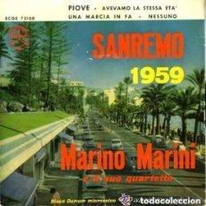 Discos de vinilo: MARIO MARINI - EP SAN REMO 1959 - PIOVE - AVEVAMO LA STESSA ETA + 2 (SOLO CARATULA). Lote 134200290