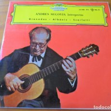 Discos de vinilo: ANDRES SEGOVIA, GUITARRA ESPAÑOLA CLASICA-GRANADA/ GAVOTA/ SARABANDA - EP 1961-. Lote 134200838