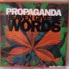 Discos de vinilo: PROPAGANDA - HEAVEN GIVE ME WORDS - MAXI-SINGLE VIRGIN GERMANY 1990. Lote 134210998