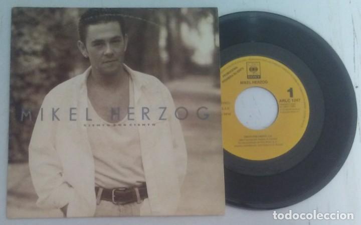 MIKEL HERZOG CIENTO POR CIENTO PROMOCIONAL 1992 (Música - Discos - Singles Vinilo - Solistas Españoles de los 70 a la actualidad)