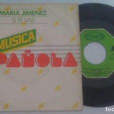 Discos de vinilo: MARIA JIMENEZ SI TE VAS+1 PROMOCIONAL 1979 A TODA MÚSICA FUNDADOR. Lote 148002254