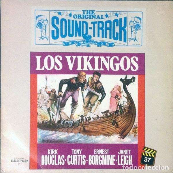 Discos de vinilo: Mario Nascimbene ?– Los Vikingos (The Vikings) (Banda Sonora Original De La Película) [España,1982] - Foto 2 - 134224962