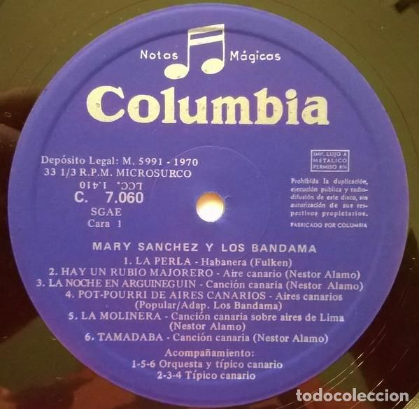 Discos de vinilo: Mary Sanchez Y Los Bandama – Mary Sanchez Y Los Bandama (España, 1970) - Foto 3 - 134227750