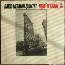 Discos de vinilo: DAVID LIEBMAN QUINTET - DOIN' IT AGAIN - LP TIMELESS/JAZZ STOP/CFE 1984 . EDICIÓN ESPAÑOLA,. Lote 134228926