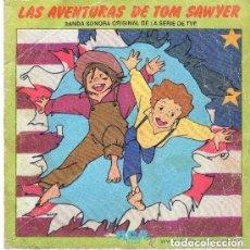 Discos de vinilo: LAS AVENTURAS DE TOM SAWYER - BANDA SONORA DE LA SERIE DE TV - SINGLE 1980 (VERSION SANTABARBARA). Lote 138094274