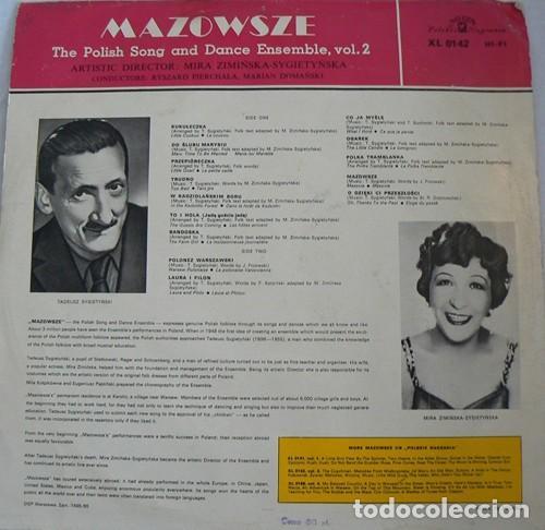 Discos de vinilo: Mazowsze ?– The Polish Song And Dance Ensemble, Vol. 2 (Poland, 1965) - Foto 2 - 134236394