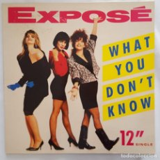 Discos de vinilo: MAXI - EXPOSE - WHAT YOU DON'T KNOW - ARISTA 3A 612354 - 1989. Lote 134242094