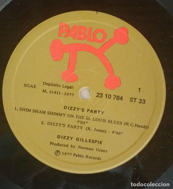 Discos de vinilo: DIZZY'S PARTY - THE DIZZY GILLESPIE 6 - Foto 3 - 134243898