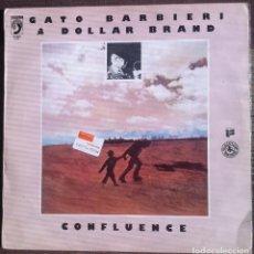 Discos de vinilo: GATO BARBIERI & DOLLAR BRAND - CONFLUENCE - LP BLACK LION RECORDS/DISCOPHON 1977 EDICIÓN ESPAÑOLA,. Lote 134246518