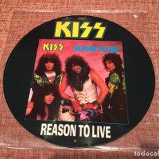 Discos de vinilo: KISS -REASON TO LIVE- (1987) MAXI-SINGLE PICTURE DISC. Lote 134249562