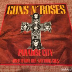 Discos de vinilo: GUNS N'ROSES -PARADISE CITY- (1989) MAXI-SINGLE. Lote 134249786