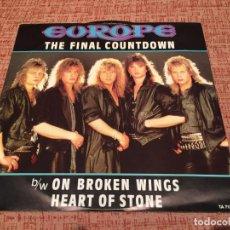 Discos de vinilo: EUROPE -THE FINAL COUNTDOWN- (1986) MAXI-SINGLE. Lote 134254130