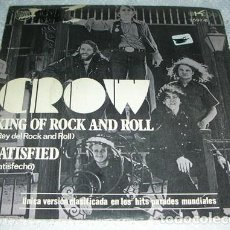 Discos de vinilo: CROW - KING OF ROCK AND ROLL - SINGLE 1971. Lote 134258314