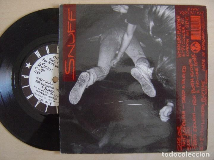 Discos de vinilo: SNUFF - not listening - EP INGLES 1989 - WORKERS PLAYTIME - Foto 2 - 134267694
