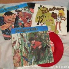Discos de vinilo: DISCOS SINGLES DE CUENTOS INFANTILES. COLECCIÓN DE 3 DISCOS. AÑOS 60-70. Lote 134273374