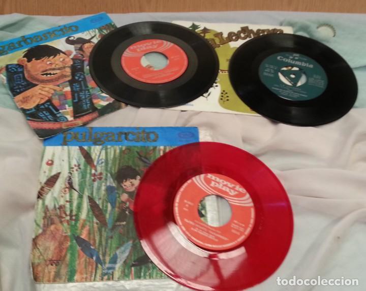 Discos de vinilo: Discos Singles de cuentos infantiles. Colección de 3 discos. Años 60-70 - Foto 2 - 134273374