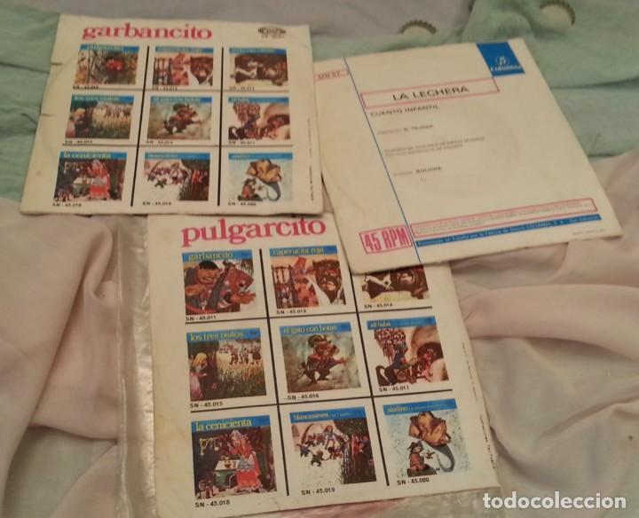 Discos de vinilo: Discos Singles de cuentos infantiles. Colección de 3 discos. Años 60-70 - Foto 3 - 134273374