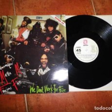 Discos de vinilo: GRANDMASTER MELLE MEL & THE FURIOUS FIVE WE DON´T WORK FOR FREE MAXI SINGLE VINILO 1984 ESPAÑA 2TEMA. Lote 134308934