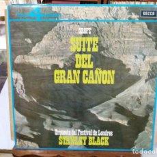 Discos de vinilo: STANLEY BLACK, ORQUESTA DEL FESTIVAL DE LONDRES - SUITE DEL GRAN CAÑÓN - LP. DEL SELLO DECCA DE 1964. Lote 134323574