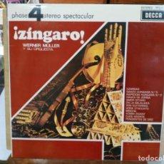 Discos de vinilo: WERNER MÜLLER Y SU ORQUESTA - ¡ZÍNGARO! - LP. DEL SELLO DECCA DE 1970. Lote 134323682