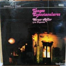 Discos de vinilo: WERNER MÜLLER Y SU ORQUESTA - TANGOS ESPECTACULARES - LP. DEL SELLO DECCA DE 1973. Lote 134323802