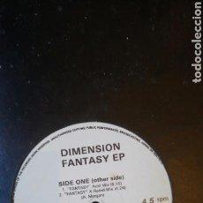 Discos de vinilo: DIMENSION FANTASY EP. WARRIORS RÉCORDS. ACID HOUSE, HOUSE. Lote 134323945