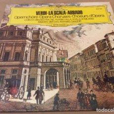 Discos de vinilo: VERDI - LA SCALA - ABBADO. DEUTSCHE GRAMMOPHON. ROMANO GANDOLFI.. Lote 134342690