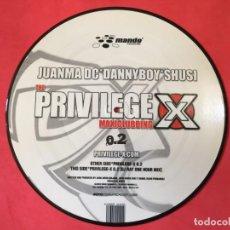 Discos de vinilo: JUANMA DC*DANNYBOY*SHUSI* ?– PRIVILEGE X 0.2. Lote 134347906