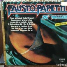 Discos de vinilo: FAUSTO PAPETTI - 26ª RACCOLTA - LP. DEL SELLO DURIUM DE 1978. Lote 134362074