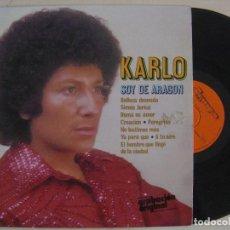 Discos de vinilo: KARLO - SOY DE ARAGON - LP 1979 - OLYMPO. Lote 134363330
