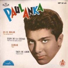 Discos de vinilo: EP-PAUL ANKA EN EL HOGAR HISPAVOX 97-49 SPAIN 1962. Lote 134367118