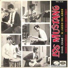 Discos de vinilo: LOS MUSTANG – CHAO, CHAO – EP SPAIN 1965. Lote 134375210