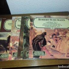 Discos de vinilo: LP - SALVAT - LOTE 8 LP ENCICLOPEDIA SALVAT DE LOS GRANDES COMPOSITORES. Lote 134377962