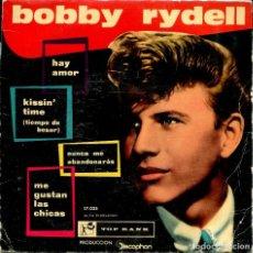 Discos de vinilo: BOBBY RYDELL / KISSIN' TIME (TIEMPO DE BESAR) + 3 (EP ORIGINAL ESPAÑOL 1960). Lote 134379602