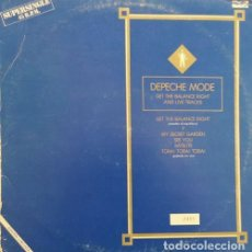 Discos de vinilo: DEPECHE MODE - GET THE BALANCE RIGHT - MAXI SINGLE DE 12 PULGADAS ESPAÑOL EDICION LIMITADA NUMERADA. Lote 134382386