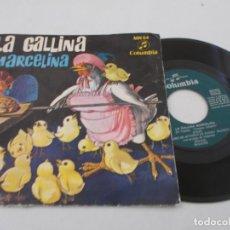 Discos de vinilo: CUENTO LA GALLINA MARCELINA.. Lote 134403534
