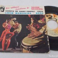 Discos de vinilo: SILVIO SILVEIRA, GAROTA DE SAINT-TROPEZ, LAVEM MANGUEIRA. ZAZA, NANA.. Lote 134403778