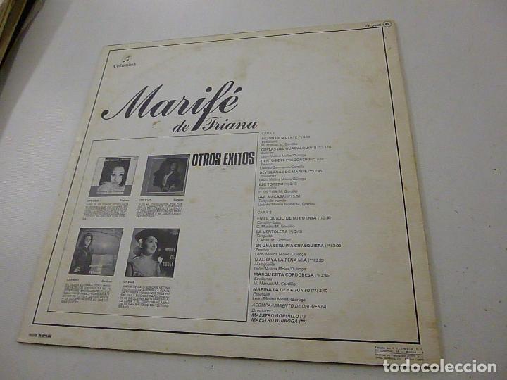 Discos de vinilo: MARIFE DE TRIANA -REJON DE MUERTE -LP - - Foto 2 - 134407418