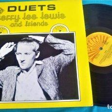 Discos de vinilo: JERRY LEE LEWIS - DUETS - LP - EDITADO EN ALEMANIA, 1989. SUN RECORDS. Lote 134408470