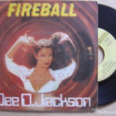 Discos de vinilo: DEE D JACKSON - FIREBALL + FALLING INTO SPACE - SINGLE 1979 - SAUCE. Lote 134415366