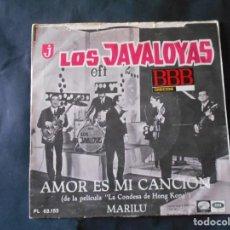 Discos de vinilo: VINILO SINGLE DE LOS JAVALOYAS DE 1967. Lote 134419178