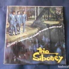 Discos de vinilo: VINILO SINGLE DE TRYO SIBONEY AÑO 1967 4 CANCIONES . Lote 134419422