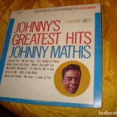 Discos de vinilo: JOHNNY MATHIS. GREATEST HITS. COLUMBIA, 1962. EDIC. U.S.A. Lote 134434394