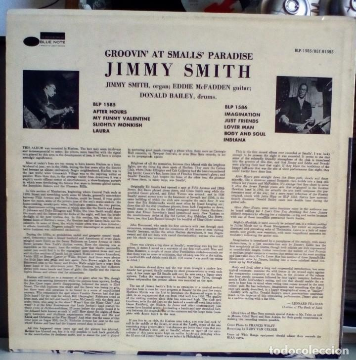 Discos de vinilo: JIMMY SMITH groovin at smalls paradise - volume 1 / BLUE NOTE BST 81585 - EDICION USA - stereo - Foto 2 - 134530558