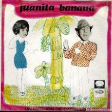 Discos de vinilo: LUIS AGUILÉ. TEMAS: JUANITA BANANA & UN MECHÓN DE CABELLO. Lote 134538626