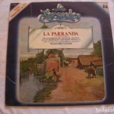 Discos de vinilo: ANTIGUO DISCO LP VINILO COLECCION LA ZARZUELA - LA PARRANDA (DG). Lote 134563022